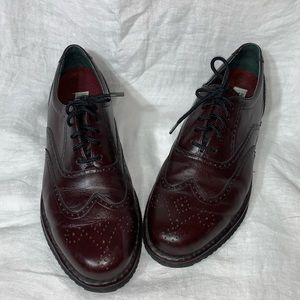 Hush Puppies Wingtip Oxfords Sz 12M Leather Brown